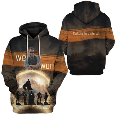 Gearhuman 3D Reylease The Snyder Cut Custom Hoodie Apparel GL21054 3D Custom Fleece Hoodies