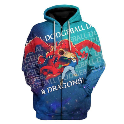 Gearhuman 3D Satoshi Playing Dodgeball And Dragons Custom Hoodies Apparel GT13022 3D Custom Fleece Hoodies Zip Hoodie S
