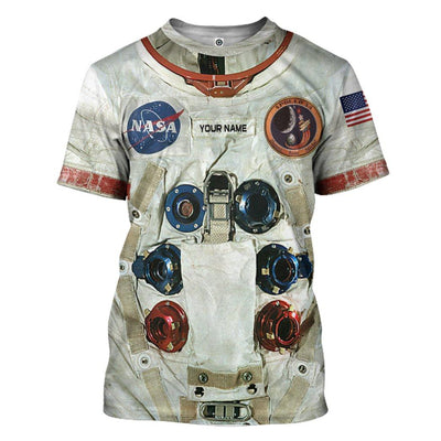 Gearhuman 3D Shepard A7 LB Apollo 14 Pressure Suit Space Suit Custom Name Tshirt Hoodie Apparel GV16095 3D Apparel T-Shirt S