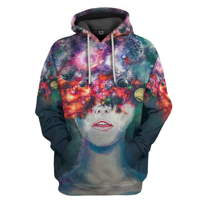 Gearhuman 3D Space Thoughts Custom Fleece Hoodie Apparel GW08041 3D Custom Fleece Hoodies Hoodie S