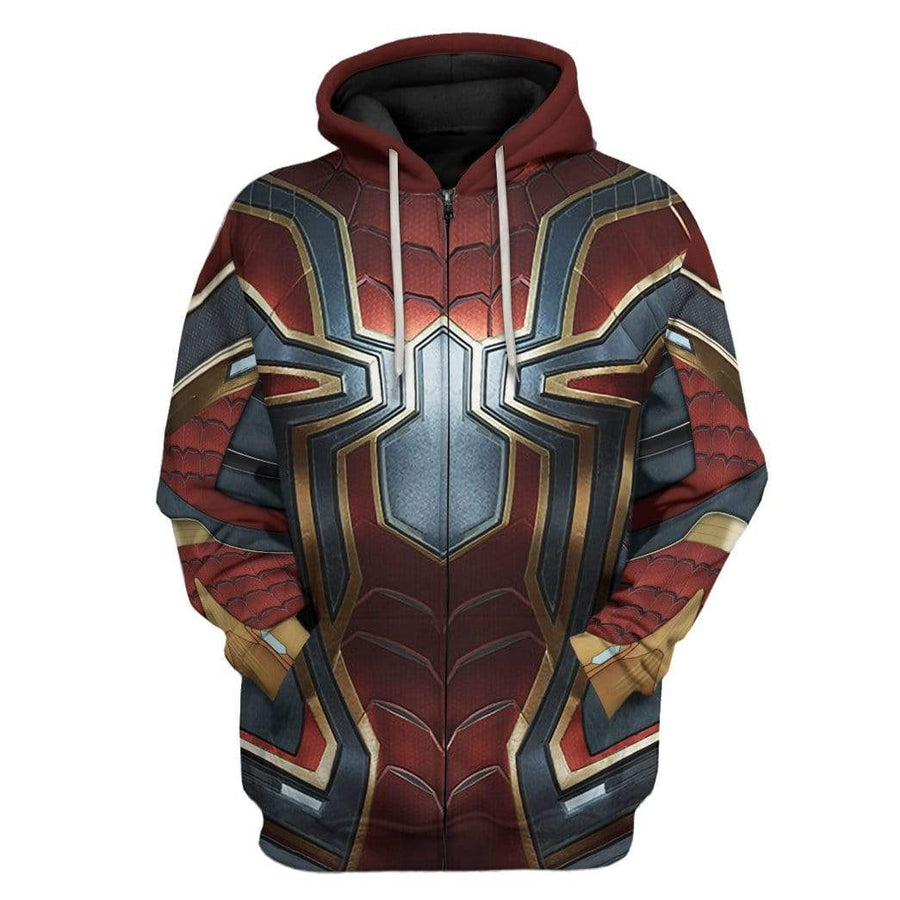 Gearhuman 3D Spiderman Iron Spider Custom Hoodie Apparel GW26061 3D Custom Fleece Hoodies Hoodie S