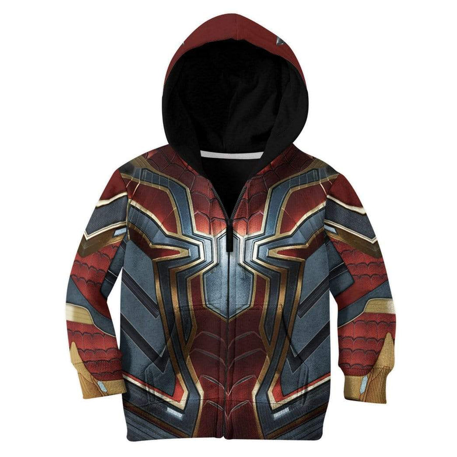 Gearhuman 3D Spiderman Iron Spider Custom Kid Hoodie GW210817 Kid 3D Apparel Kid Hoodie 2XS