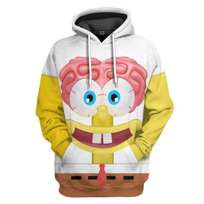 Gearhuman 3D Spongebob Squarepants Glitter Custom Design Hoodie Apparel GM19056 3D Custom Fleece Hoodies Hoodie S