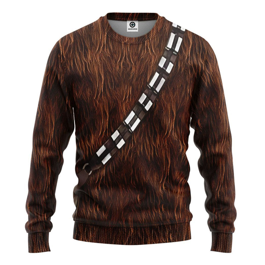 Gearhuman 3D Star Wars ChewBacca Set Custom Tshirt Hoodie Apparel
