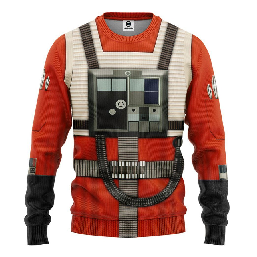 Gearhuman 3D Star Wars Rebel Pilot Tshirt Hoodie Apparel