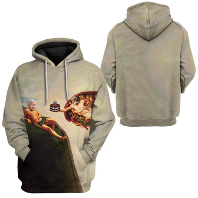 Gearhuman 3D The Creation Of Pi Custom Fleece Hoodie Apparel GM27024 3D Custom Fleece Hoodies