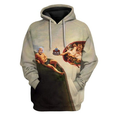 Gearhuman 3D The Creation Of Pi Custom Fleece Hoodie Apparel GM27024 3D Custom Fleece Hoodies Hoodie S