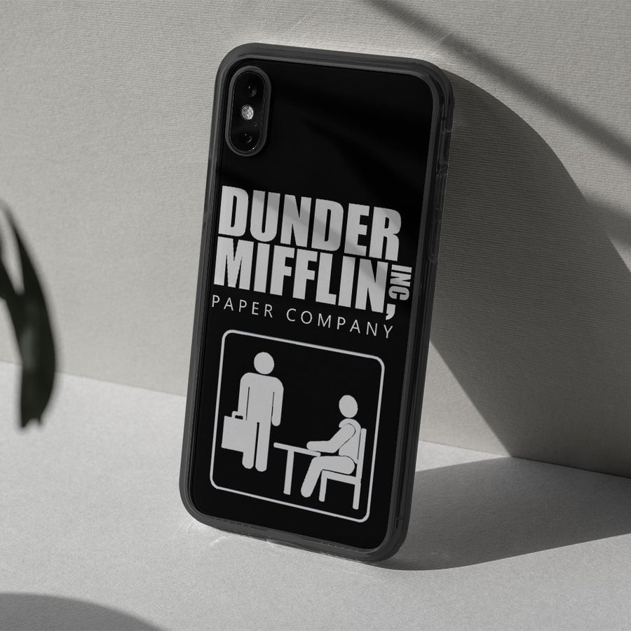 Gearhuman 3D The Office Dunder Mifflin Custom Glass Phone Case