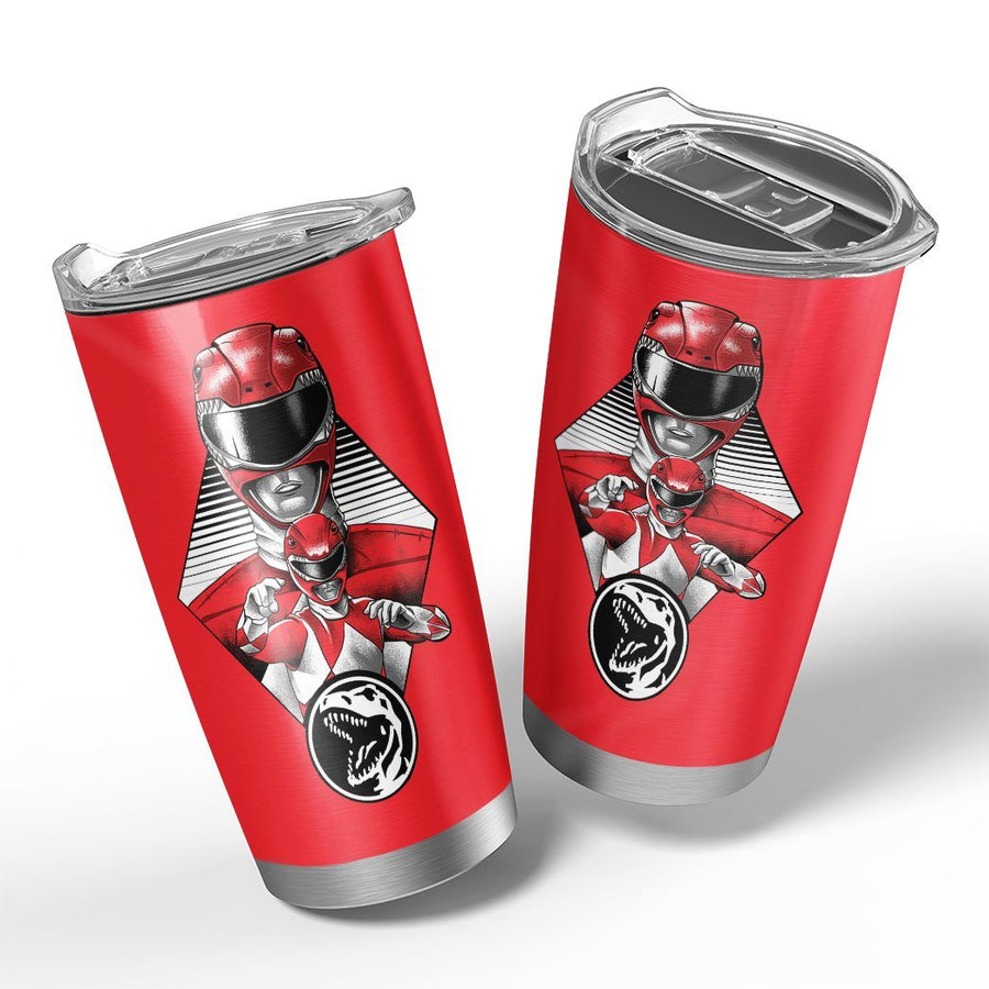 Gearhuman 3D The Red Power Ranger Custom Design Vacuum Insulated Tumbler