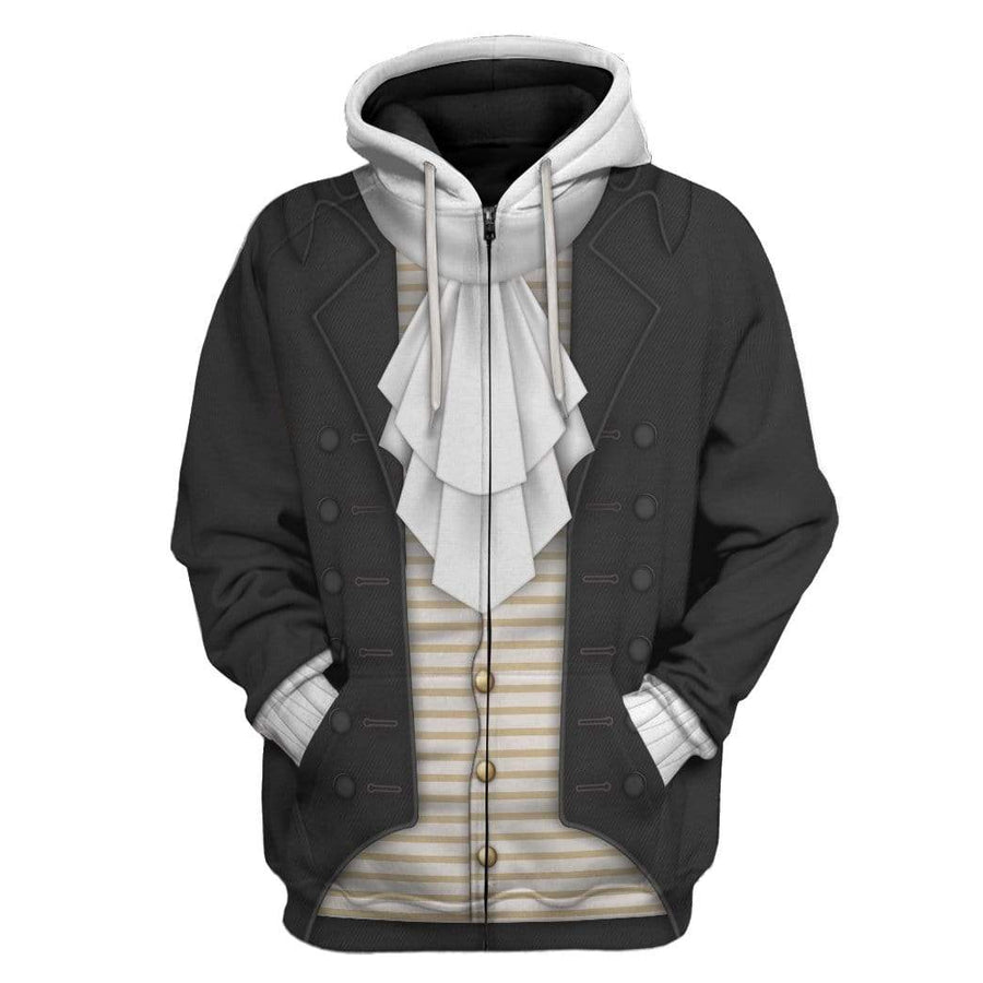 Gearhuman 3D Thomas Jefferson Custom Hoodie Apparel GV270712 3D Custom Fleece Hoodies Hoodie S