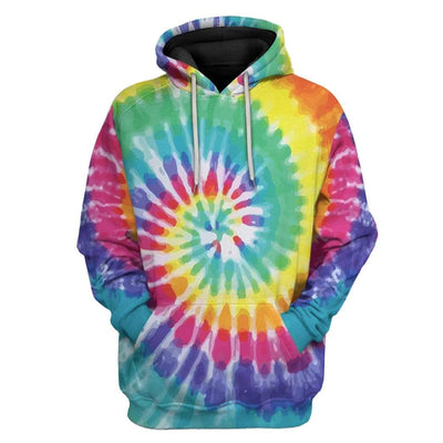 Gearhuman 3D Tie Dye Cross Custom Hoodie Apparel GW15072 3D Custom Fleece Hoodies Hoodie S