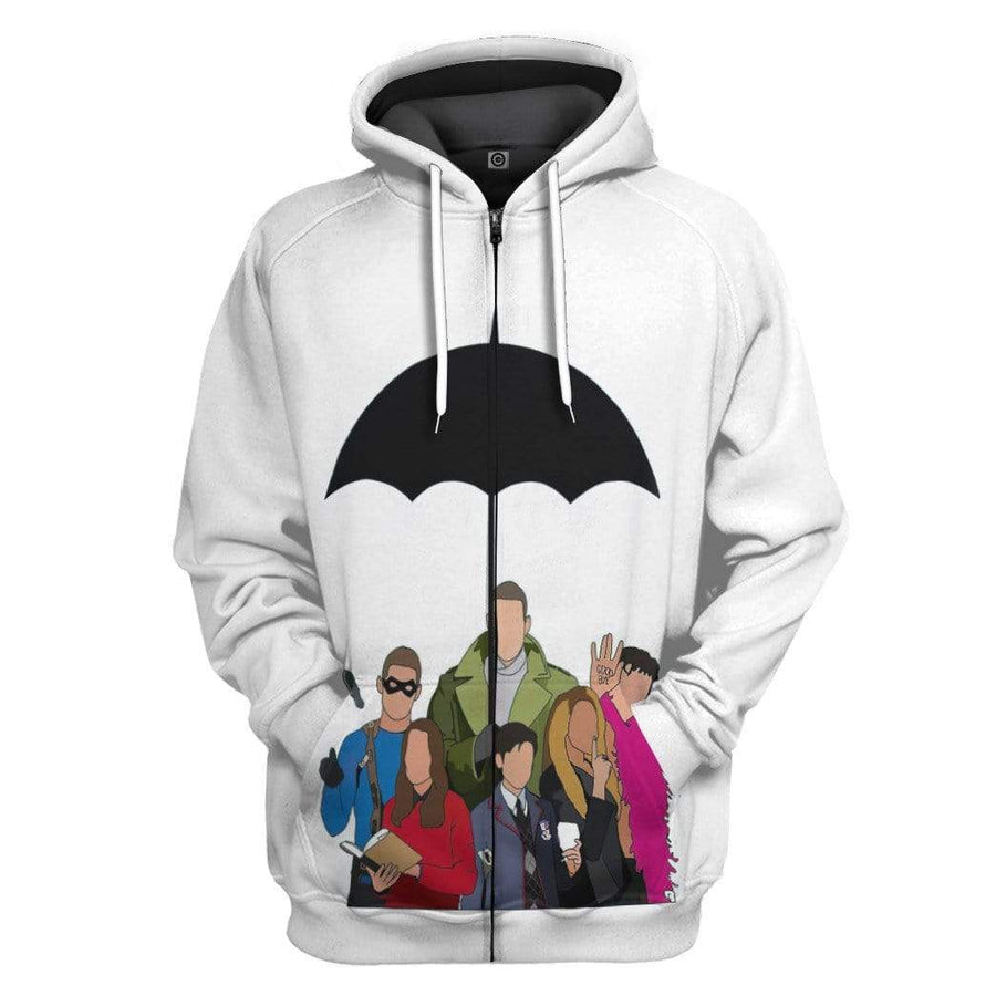 Gearhuman 3D Umbrella Academy Custom Hoodie Apparel GS13083 3D Custom Fleece Hoodies Hoodie S
