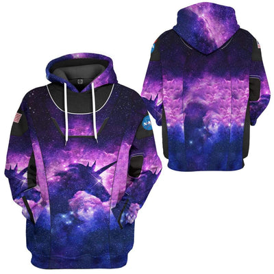 Gearhuman 3D Unicorn SpaceX Spacesuit Custom Hoodie Apparel GL10062 3D Custom Fleece Hoodies