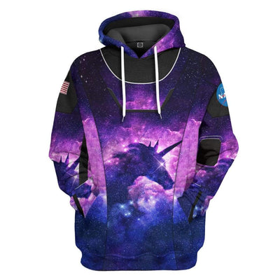 Gearhuman 3D Unicorn SpaceX Spacesuit Custom Hoodie Apparel GL10062 3D Custom Fleece Hoodies Hoodie S