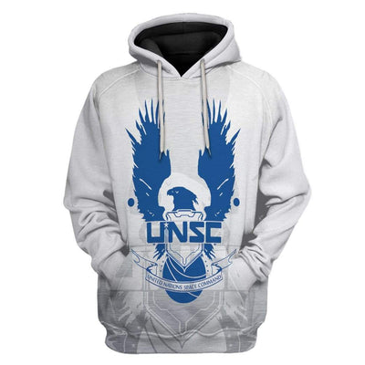 Gearhuman 3D UNSC Halo Infinite Custom Hoodie Apparel GS31075 3D Custom Fleece Hoodies Hoodie S