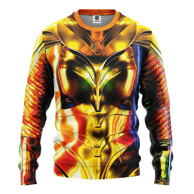 Gearhuman 3D Wonder Woman 1984 Colourful Custom Tshirt Hoodie Appreal CU03121 3D Apparel Long Sleeve S