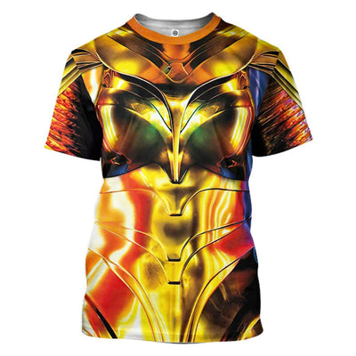 Gearhuman 3D Wonder Woman 1984 Colourful Custom Tshirt Hoodie Appreal CU03121 3D Apparel T-Shirt S