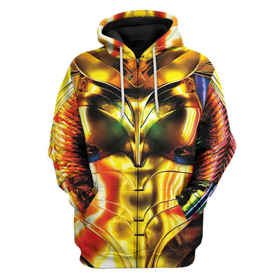 Gearhuman 3D Wonder Woman 1984 Colourful Custom Tshirt Hoodie Appreal CU03121 3D Apparel Zip Hoodie S
