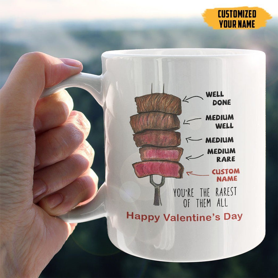 Gearhuman 3D You Are The Rarest Valentines Day Custom Name Mug