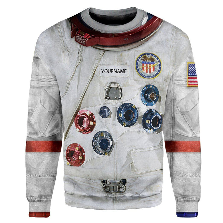 Gearhuman 3D Young A7 LB Apollo 16 Pressure Suit Space Suit Custom Name Tshirt Hoodie Apparel GV16096 3D Apparel Hoodie S