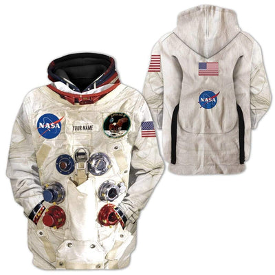 Gearhuman [50th Anniversary] 3D Custom Name Armstrong Spacesuit Apparel GHC0000 3D Custom Fleece Hoodies