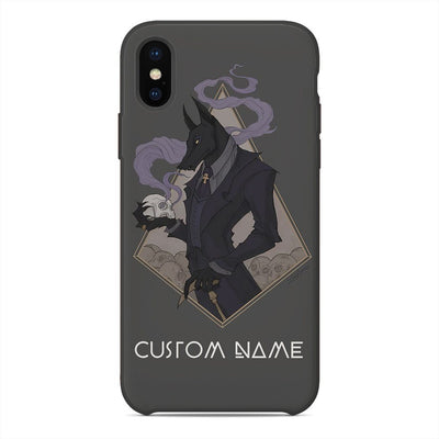 GearHuman Gentle Anubis Custom Name PhoneCase GR06018 Glass Phone Case Iphone X