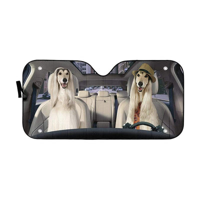 gearhumans 3D Afghan Hound Dog Custom Car Auto Sunshade GW270720 Auto Sunshade 57''x27.5''