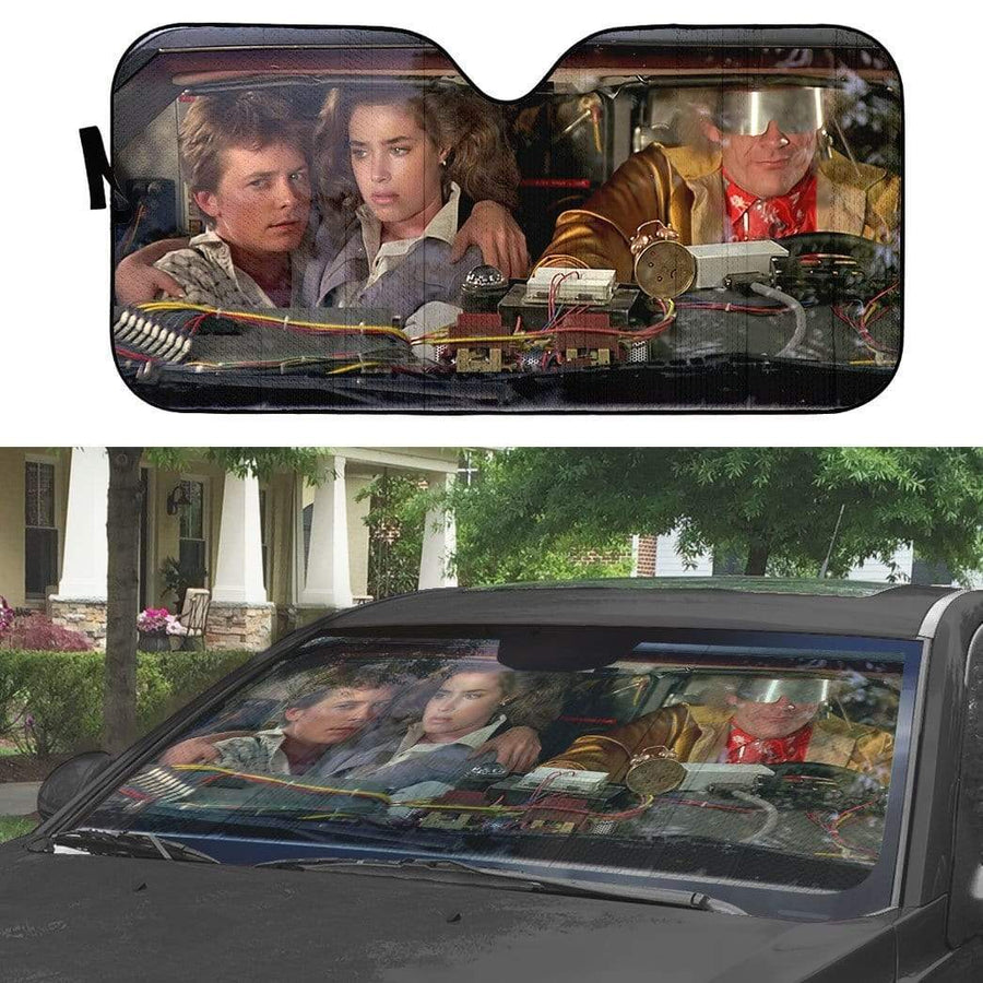 gearhumans 3D Back To The Future Custom Car Auto Sunshade