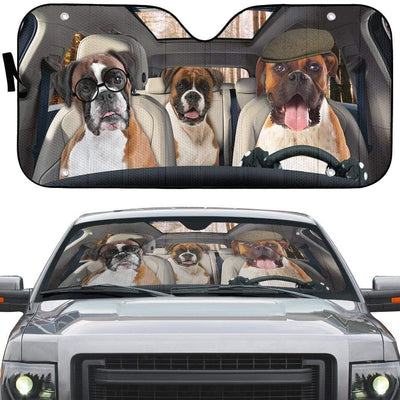 gearhumans 3D Boxer Custom Car Auto Sunshade GL20071 Auto Sunshade