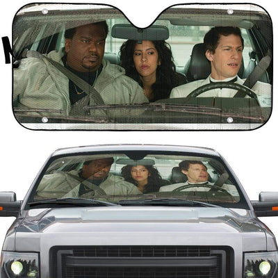 gearhumans 3D Brooklyn Nine Nine Custom Car Auto Sunshade GW04089 Auto Sunshade