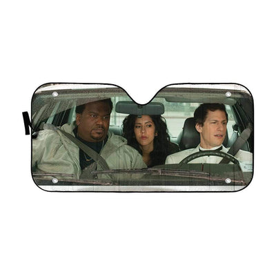 gearhumans 3D Brooklyn Nine Nine Custom Car Auto Sunshade GW04089 Auto Sunshade 57''x27.5''