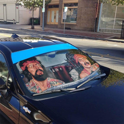 gearhumans 3D CHEECH AND CHONG Custom Car Auto Sunshade GL030821 Auto Sunshade