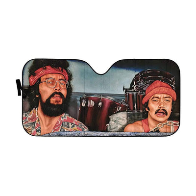 gearhumans 3D CHEECH AND CHONG Custom Car Auto Sunshade GL030821 Auto Sunshade 57''x27.5''