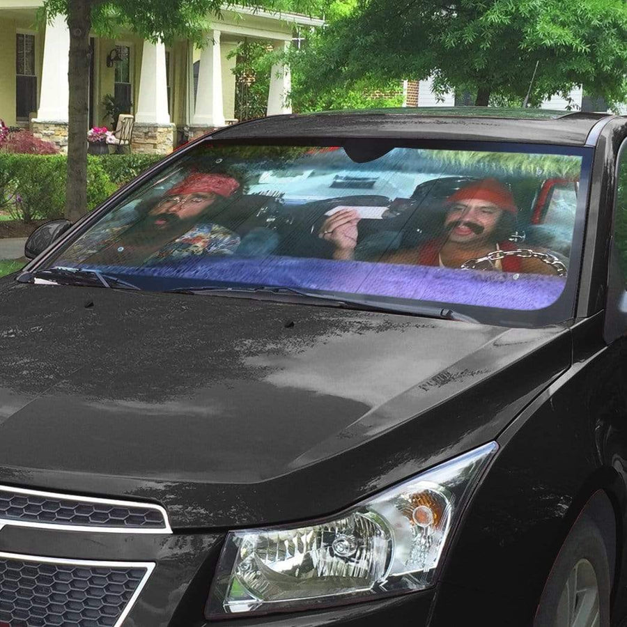 gearhumans 3D Cheech And Chong Up In Smoke Custom Car Auto Sunshade