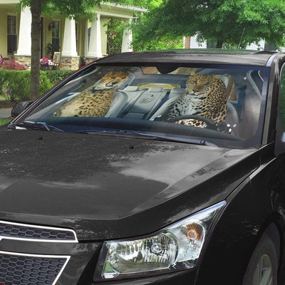 gearhumans 3D Cheetah & Leopard Custom Car Auto Sunshade GS24063 Auto Sunshade