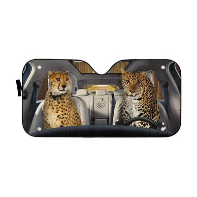 gearhumans 3D Cheetah & Leopard Custom Car Auto Sunshade GS24063 Auto Sunshade 57''x27.5''