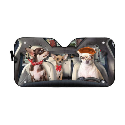 gearhumans 3D Chihuahua Custom Car Auto Sunshade GS30075 Auto Sunshade 57''x27.5''