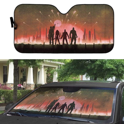 gearhumans 3D Custom Car Auto Sunshade Galaxy Protectors GA10035 Auto Sunshade