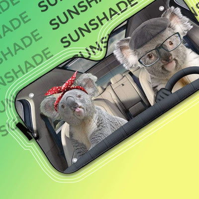 gearhumans 3D Custom Car Auto Sunshade Koalas GS020618 Auto Sunshade