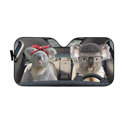 gearhumans 3D Custom Car Auto Sunshade Koalas GS020618 Auto Sunshade 57''x27.5''