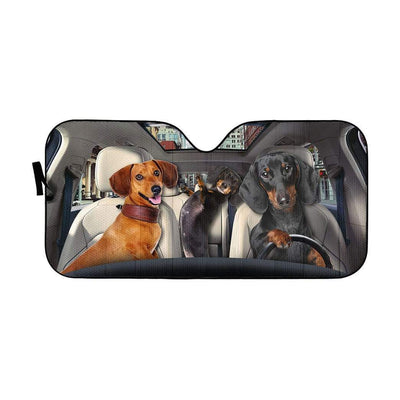 gearhumans 3D Dachshund Custom Car Auto Sunshade GL03086 Auto Sunshade 57''x27.5''