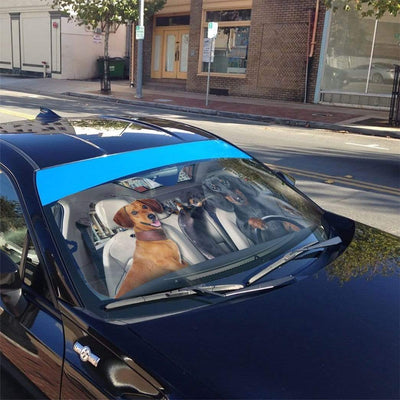 gearhumans 3D Dachshund Custom Car Auto Sunshade GL03086 Auto Sunshade
