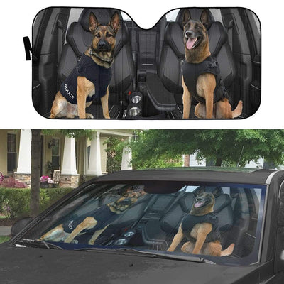 gearhumans 3D German Shepherd K-9 Custom Car Auto Sunshade GW02065 Auto Sunshade