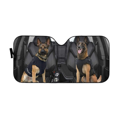 gearhumans 3D German Shepherd K-9 Custom Car Auto Sunshade GW02065 Auto Sunshade 57''x27.5''