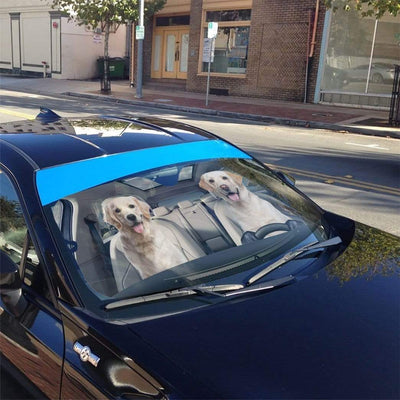 gearhumans 3D Golden Labrador Retriever Custom Car Auto Sunshade GS1702 Auto Sunshade