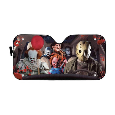 gearhumans 3D Hallowen Horror Movies Custom Car Auto Sunshade GV030816 Auto Sunshade 57''x27.5''