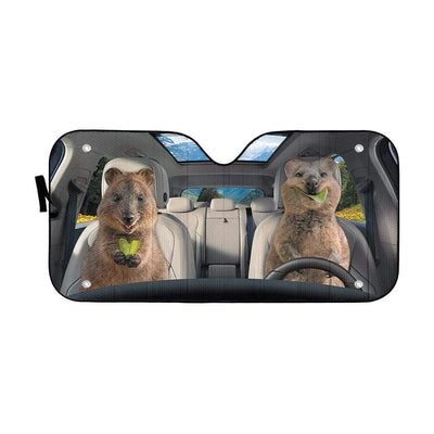 gearhumans 3D Happy Quokka Custom Car Auto Sunshade GW20076 Auto Sunshade 57''x27.5''