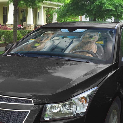 gearhumans 3D Happy Quokka Custom Car Auto Sunshade GW20076 Auto Sunshade
