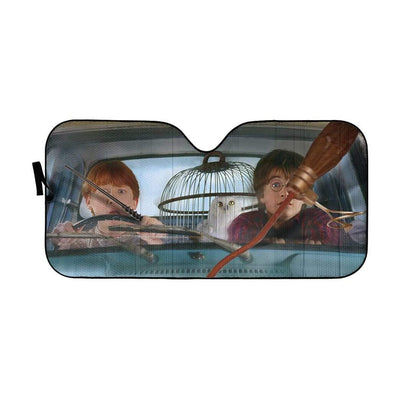 gearhumans 3D Harry And Ron Driver Custom Car Auto Sunshade GL10068 Auto Sunshade 57''x27.5''