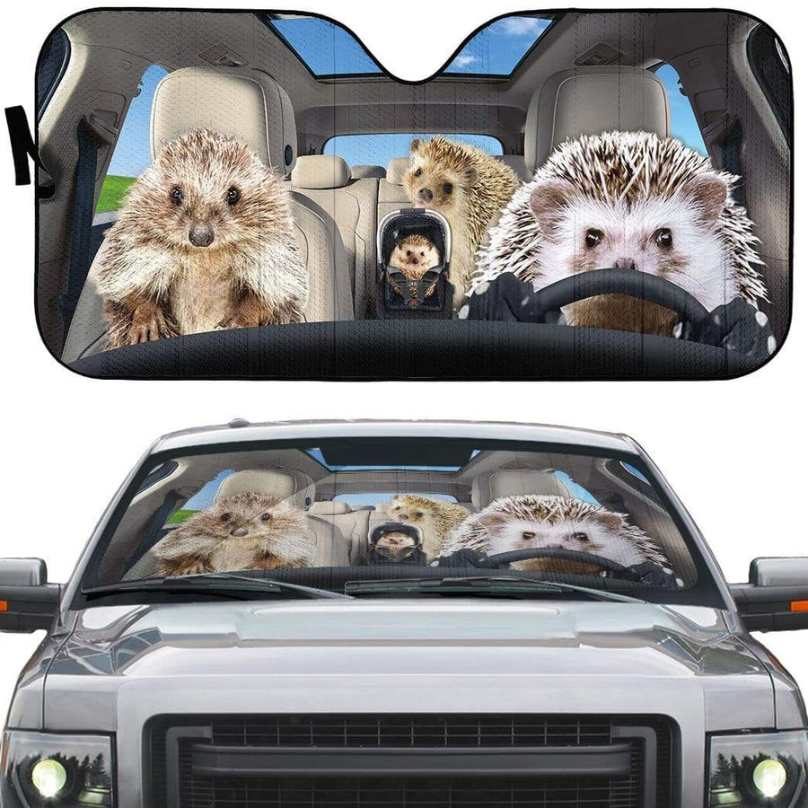 gearhumans 3D Hedgehogs Custom Car Auto Sunshade